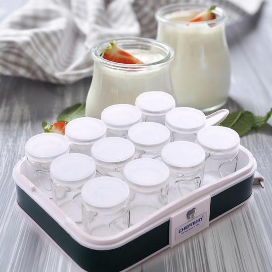 Máy làm sữa chua Chefman 12 cốc thủy tinh - BH 2 năm