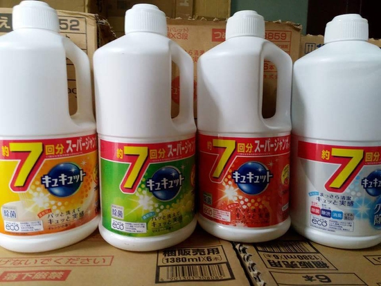 Nước rửa chén Kyukyuto KAO Nhật Bản 1380ml