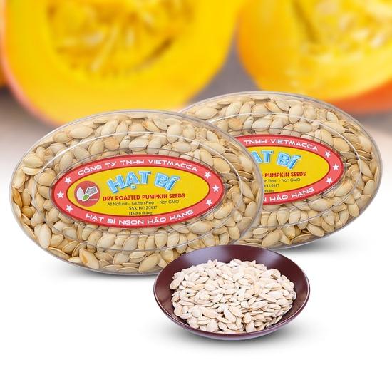 Combo 3 hộp hạt bí thơm bùi (300g/ hộp) - hàng VN
