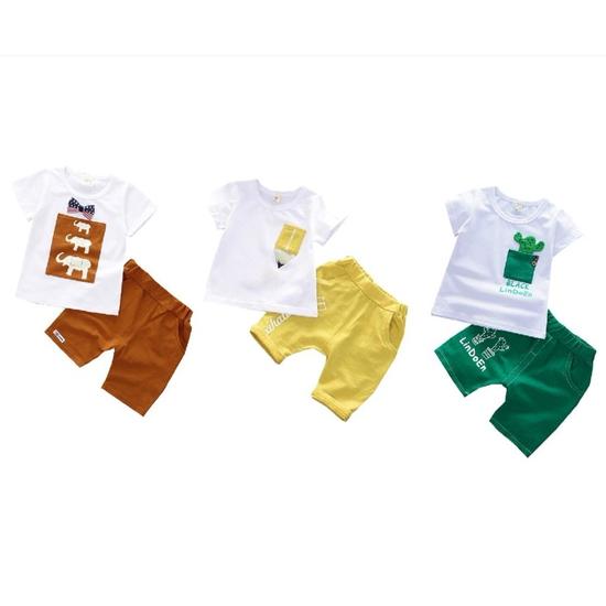 Combo ba bộ quần áo cộc tay C3QATE52 cho bé trai và bé gái