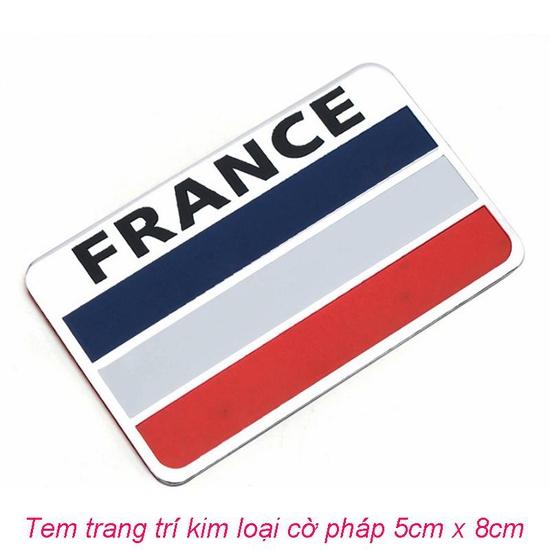 Tem trang trí Cờ Pháp dán trang trí Ô tô, Xe máy.