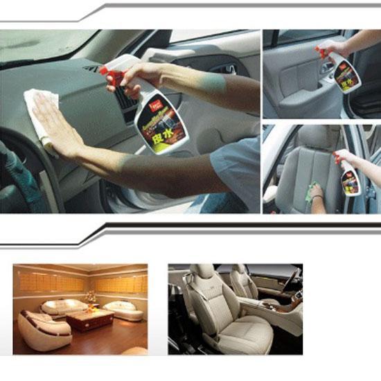 Bình xịt chuyên dụng làm sạch ghế da và nội thất xe oto - tặng 1 khăn lau nội thất ô tô