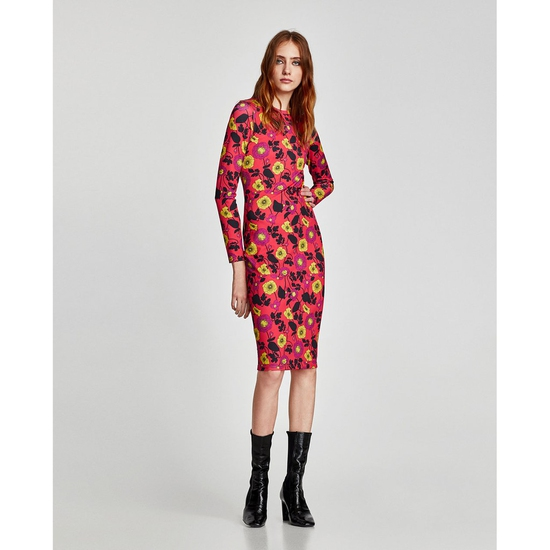 AU722: Váy ZARA body hoa hàng chính hãng sale
