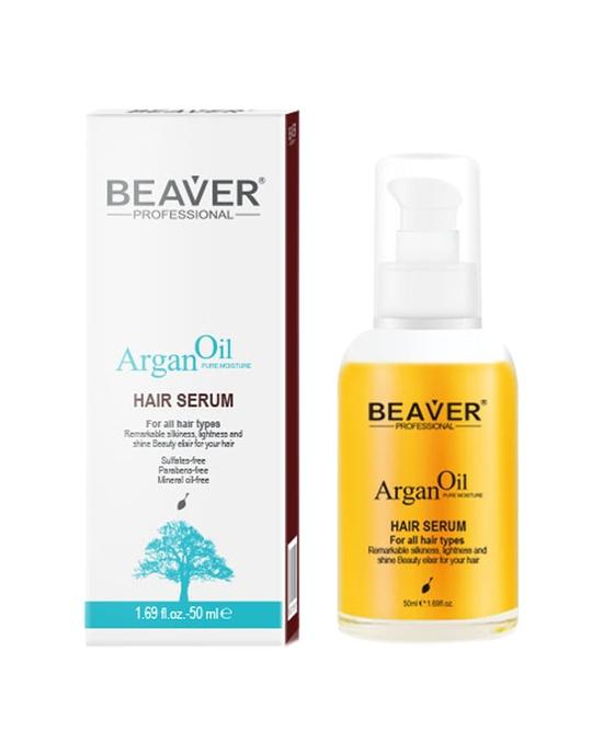Dưỡng bóng tinh chất dầu Argan - Argan oil hair Serum Beaver 50ml