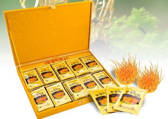 Tinh chất đông trùng hạ thảo Vani hộp gỗ vàng 60 gói