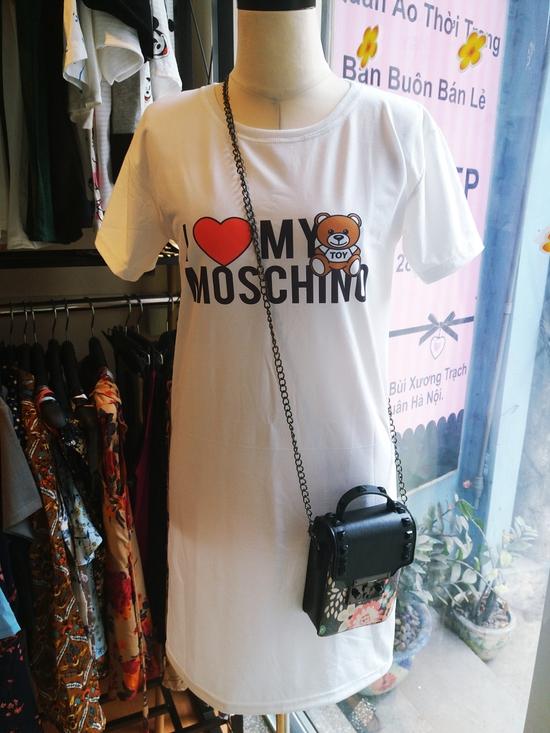 Đầm thun I LOVE MOSCHINO