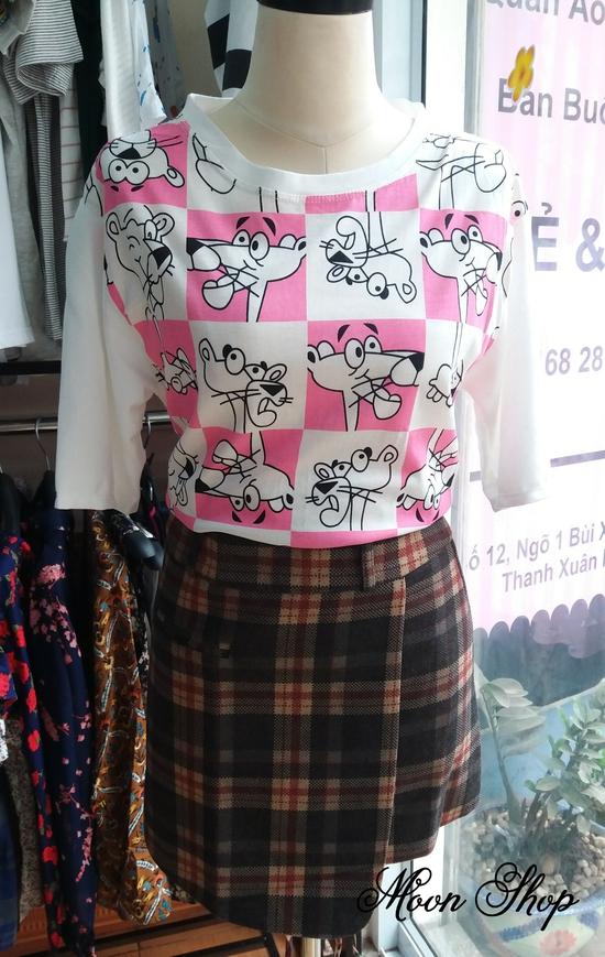 Áo Thun Nữ Họa Tiết Pink