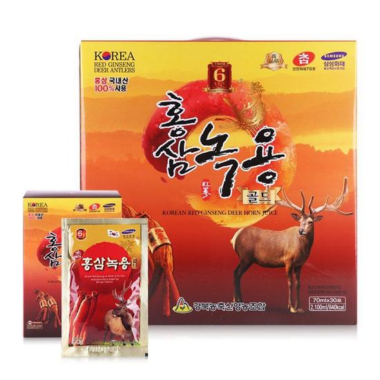 Nước hồng sâm nhung hươu Cao Cấp Hàn Quốc  Korea Red Ginseng Deer Horn Juice 30 gói