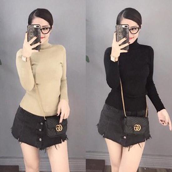Áo len cao cổ chất mềm mịn, siêu ấm - Hàng Quảng Châu