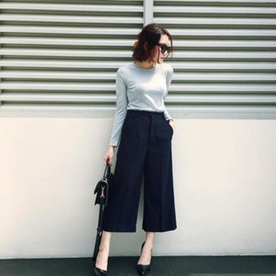 Quần culottes ống thời trang cho bạn nữ