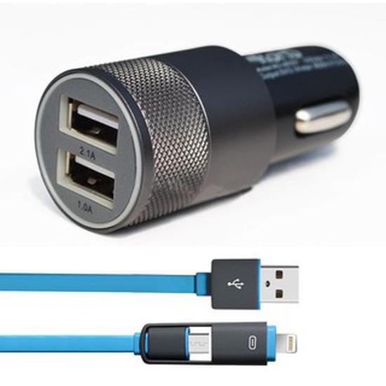 Sạc đa năng trên ô tô - 2 cổng USB
