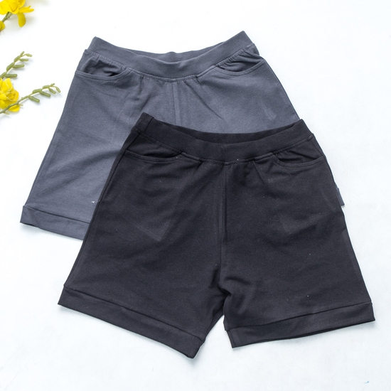 Combo 2 quần sooc nữ cotton mềm mát