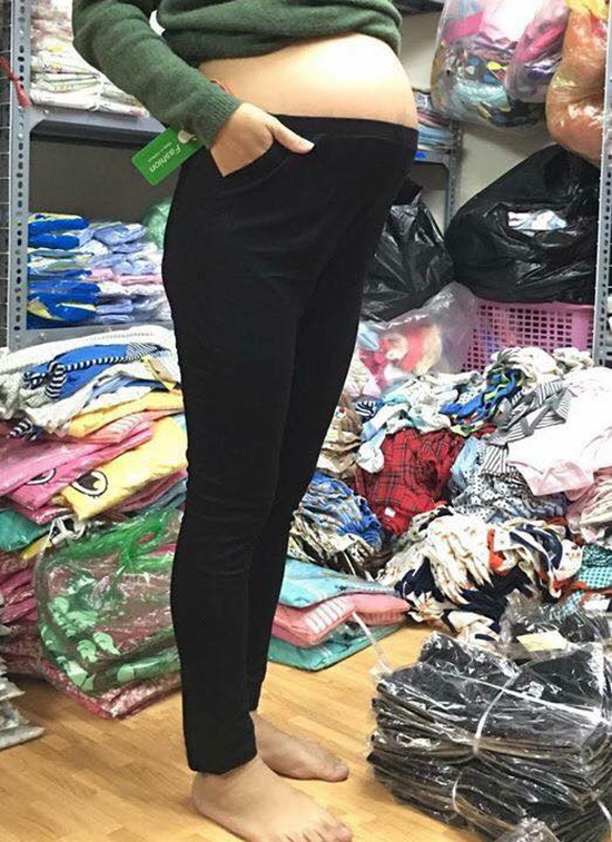 quần dài cho bà bầu 100% cotton