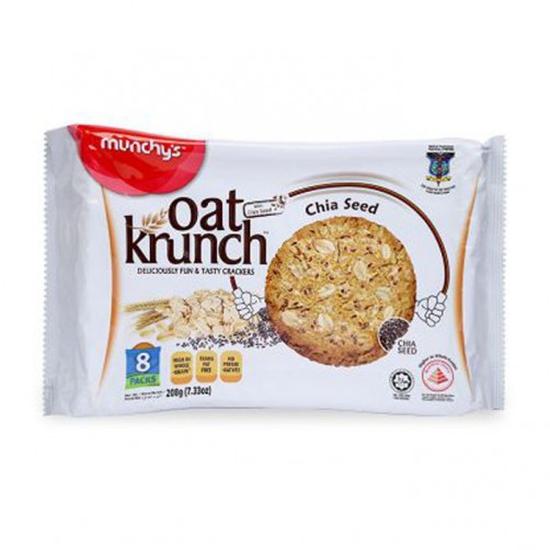 Bánh Oat Krunch Hạt Chia Gói 208g