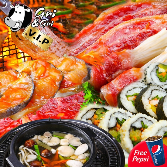 Time City/Royal City - Buffet Lẩu Nướng Gri&Gri tặng Pepsi
