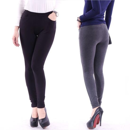 2 quần legging 100% cotton đẹp, mịn cho bạn gái