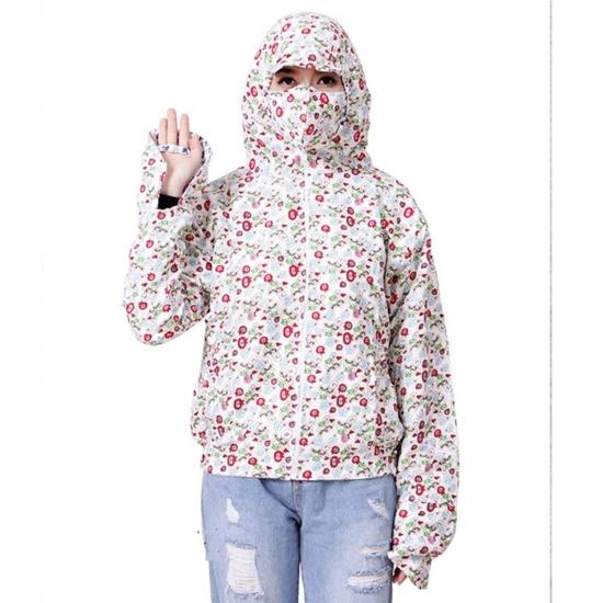 Áo chống nắng chất thô 2 lớp kèm khẩu trang 3 lớp