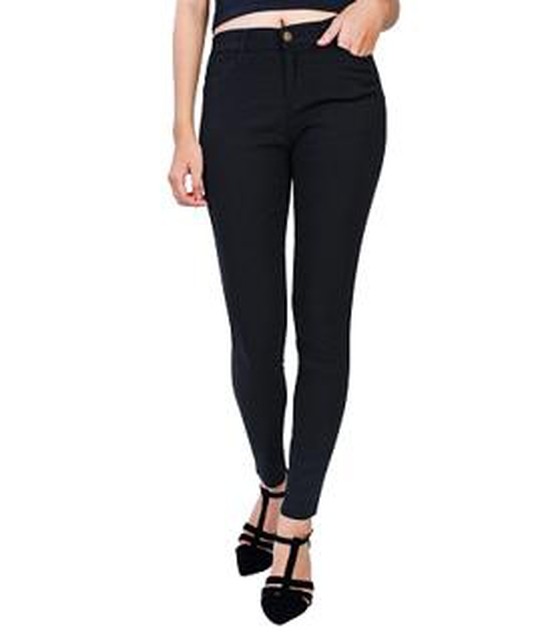 Quần Skinny giả Jeans co giãn thoải mái (ĐEN)