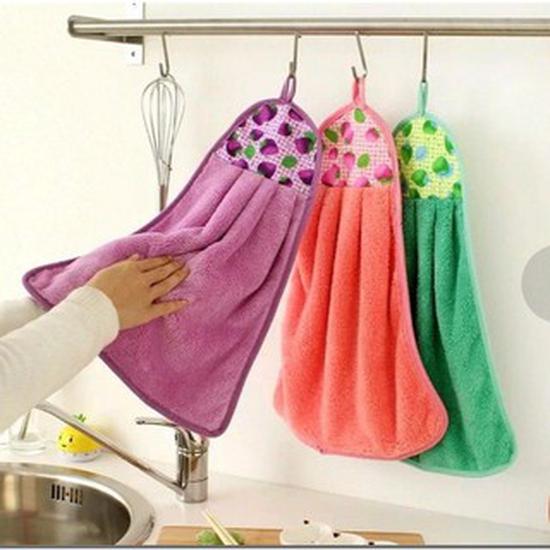 Combo 20 khăn lau tay có móc treo