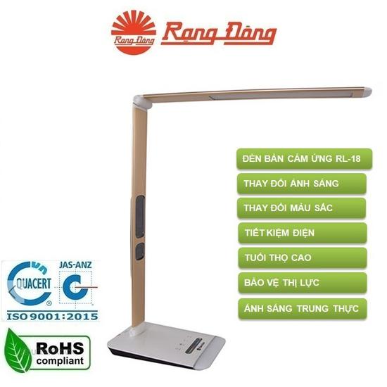 Đèn bàn cảm ứng LED Rạng Đông RL-18.LED (E) Thay đổi ánh sáng - màu sắc