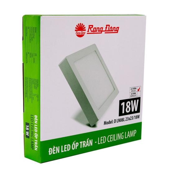 Đèn LED Ốp trần 18W Rạng Đông Model: D LN08L 23x23/18W ₫345.000 ₫255.000