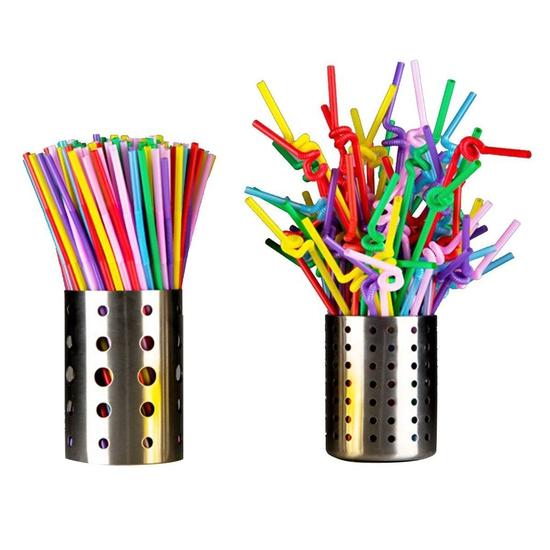 Bịch 80 ống hút tạo hình màu sắc đa dạng