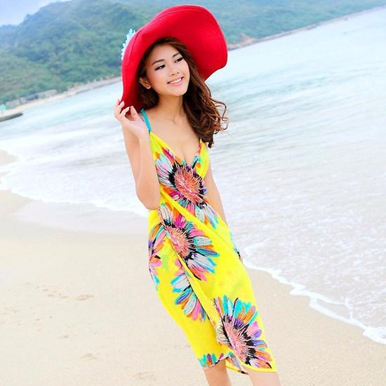 Khăn Tắm Hoa Hướng Dương - vàng