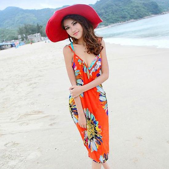 Khăn Tắm Hoa Hướng Dương - Cam