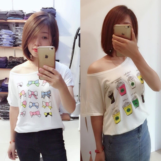 Combo 2 áo phông giấy 100% cotton siêu mátcho mùa hè oi bức