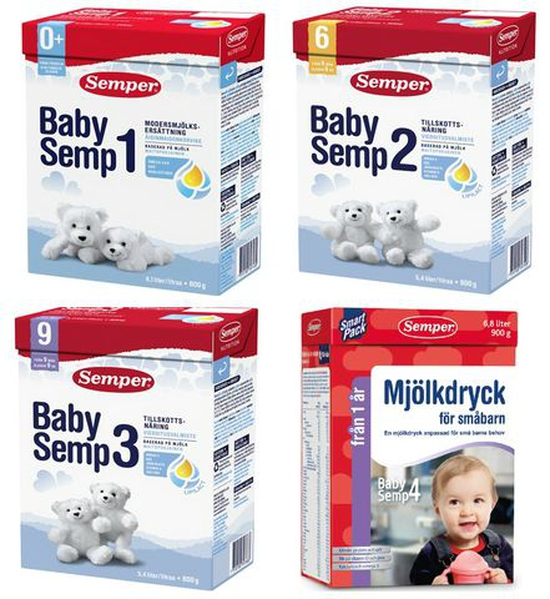 Sữa Bột Semper 800g/Hộp Số 1,2,3 Thụy Điển