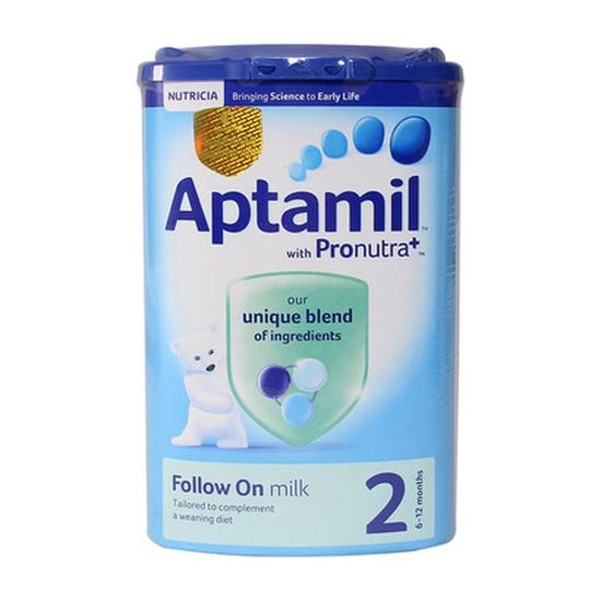 Sữa Bột Aptamil Nutrica Số 2 Cho Trẻ Từ 6 Đến 12 Tháng Nhập Khẩu 900g/Hộp Anh
