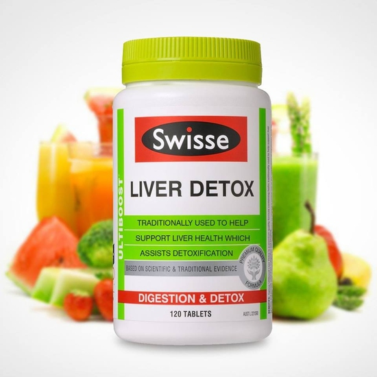 Viên uống bổ gan và giải độc - Swisse Liver Detox 120v