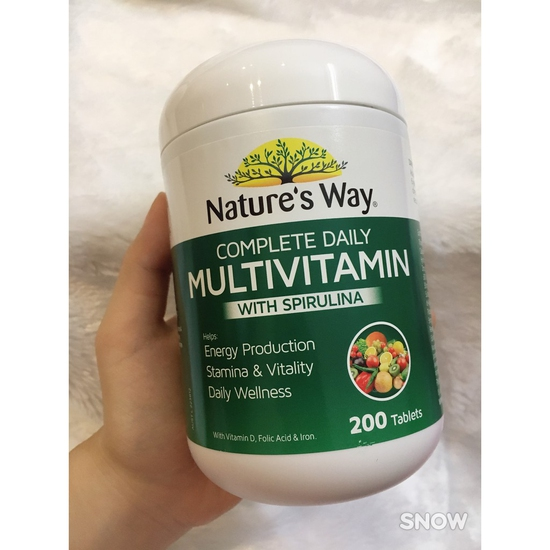 NATURE'S WAY COMPLETE DAILY #MULTIVITAMIN WITH SPIRULINA