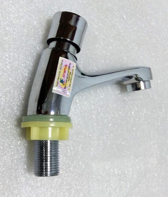 Vòi rửa mặt đơn bằng đồng tay ấn 103 tặng kèm dây cấp inox 304