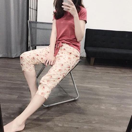 Bộ mặc nhà áo cotton quần thô thái(bao đẹp)2839