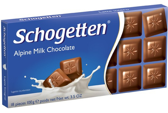COMBO 2 thanh Sôcôla 13 vị Schogetten – Vị sôcôla sữa 2*100g