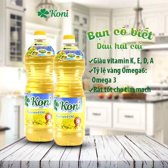 2 Chai dầu hạt cải Koni nhập khẩu Ba Lan