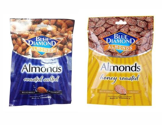 COMBO Hạnh nhân muối Blue Diamond 30 g VÀ Hạnh nhân mật ong Blue Diamond 30 g
