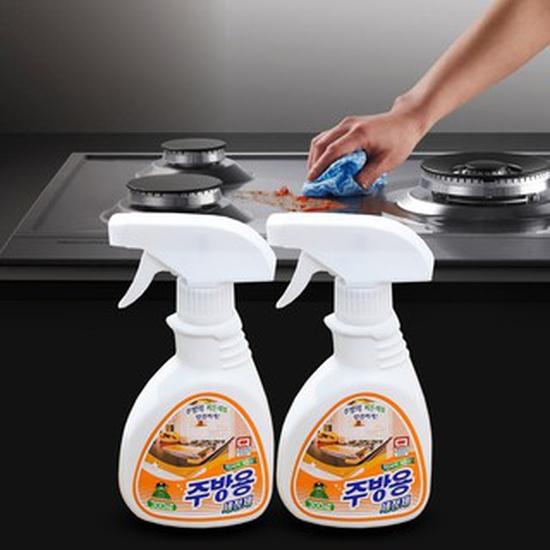 Combo 2 chai Nước xịt tẩy dầu mỡ Sandokkaebi nhà bếp Hàn Quốc