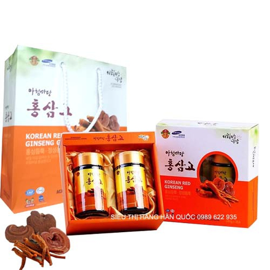 Cao hồng sâm linh chi Hàn Quốc ACHIMMADANG 2 LỌ X 240g - Tốt
