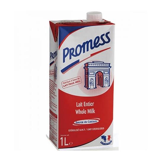 Sữa Promess Chai 1L Nguyên Kem Hộp Màu Đỏ Pháp