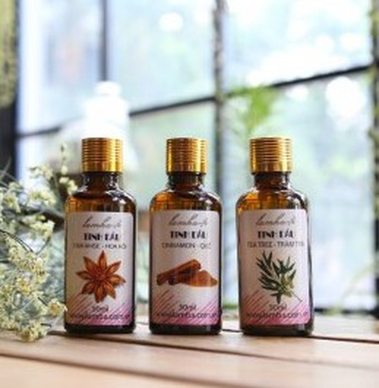 Bộ 3 lọ tinh dầu tắm chống tê mỏi tràm, hoa hồi, quế