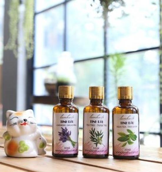 Bộ 3 lọ tinh dầu massage giảm béo mờ rạn da sau sinh (Oải hương + hoa bưởi + trà xanh)