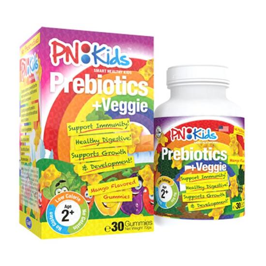 Viên Nhai Bổ Sung Prebiotics & Chất Xơ PNi Kids 30 Viên/Hộp Mỹ Cho Trẻ Từ 2 Tuổi Trở Lên Date 1/2019