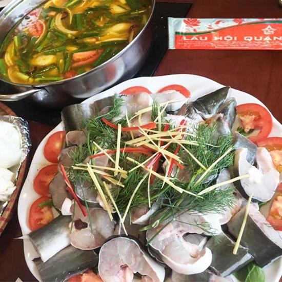 Set cá lăng sông 3-4 người Nhà hàng Lẩu Hội Quán