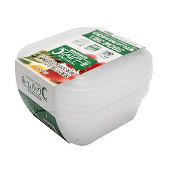 Nakaya- Bộ 3 hộp trữ thức ăn dùng trong lò vi sóng C 380ml