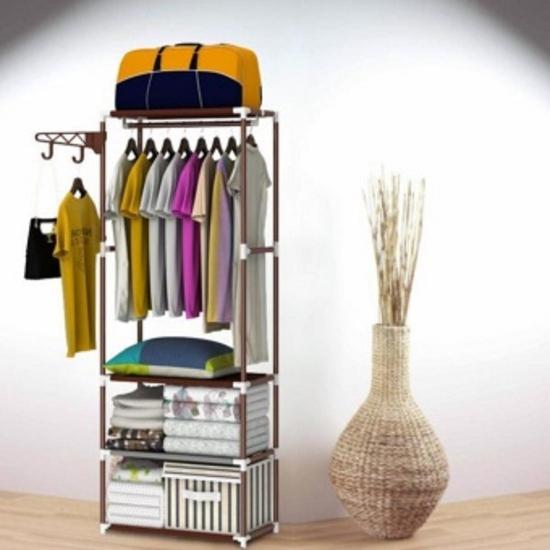 Kệ treo quần áo 4 tầng 3 ngăn/ Giá treo quần áo