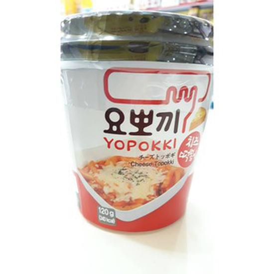 Bánh gạo Topokki vị phô mai Yopokki (Cốc 120g)