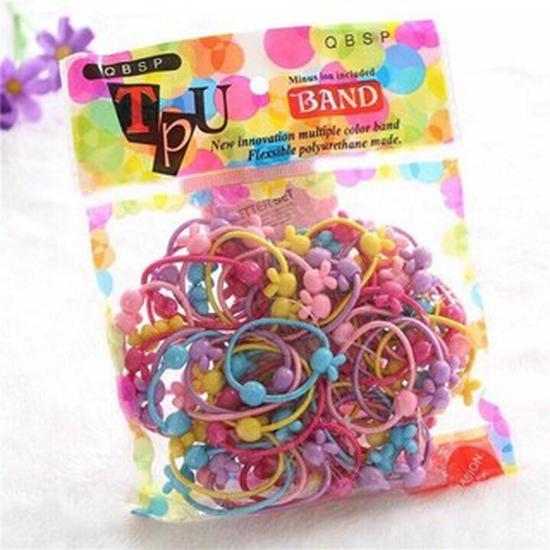 Túi 50 dây buộc tóc cho bé( 2 túi/ 100 dây)