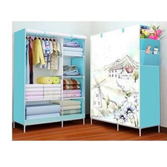 Tủ đựng quần áo 2 buồng 3D( xanh dương,xanh lá, nâu, vàng)